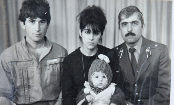 The Tsarnaev family, Tamerlan as an infant