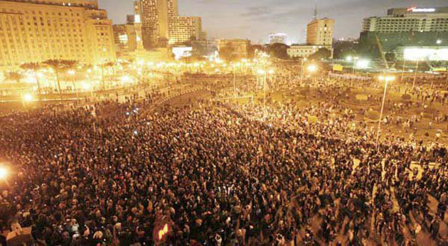 Huge protests in Egypt