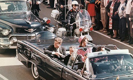 Kennedys Riding in Dallas Motorcade