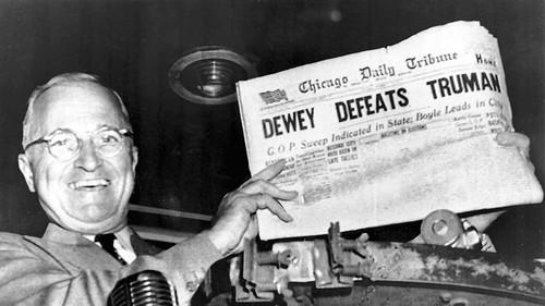 """Dewey Defeats Truman"" – The First Failed ""Deep State"" Election"